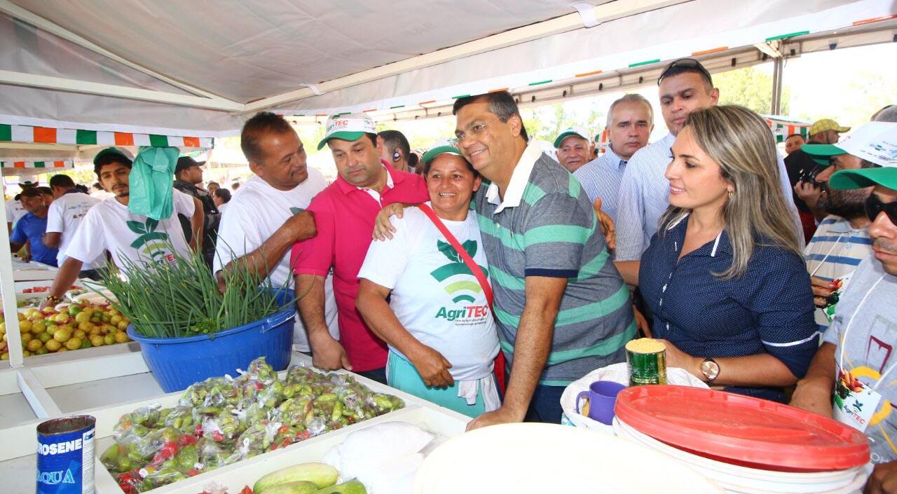 Governador Flávio Dino durante a abertura da Agritec Grajaú. Foto: Gilson Teixeira/Secap