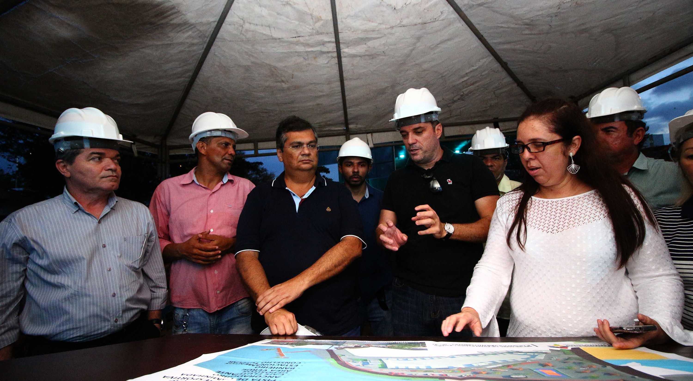 Governador Flávio Dino vistoria obras em São Luís e dialoga com população. Foto: Gilson Teixeira/Secap
