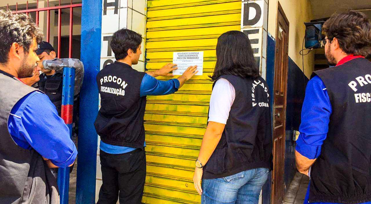 Ação de fiscalização de academias na Região Metropolitana de São Luís. Foto: Divulgação