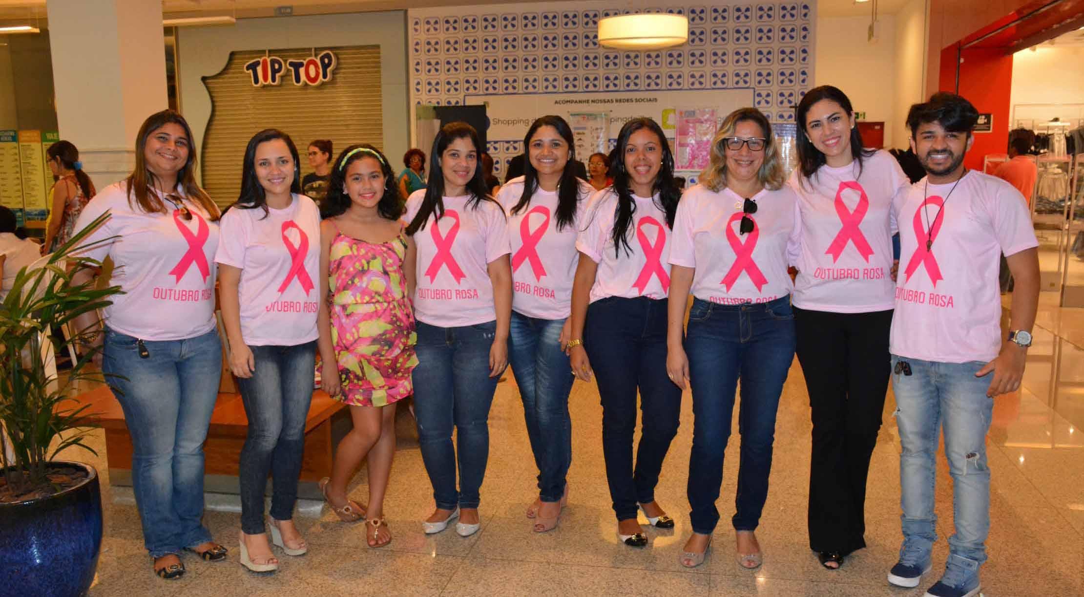 Governo promove ação de mobilização e prevenção ao câncer em shopping da capital  . Foto: Francisco Campos/SES